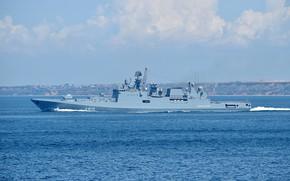 Picture ship, frigate, the black sea fleet, guard, the project 11356, Admiral Essen