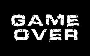 Picture game over, saver, the end of the game