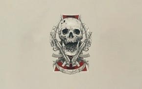 Picture Minimalism, Skull, Style, Gun, Art, Art, Bullets, Bullets, Style, Sake, Dead, Weapon, Minimalism, Machines, Bone, …