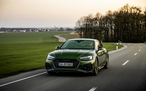Picture road, field, movement, Audi, RS 5, 2020, RS5 Sportback