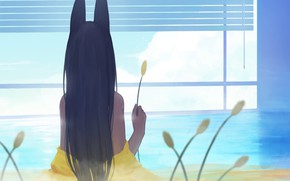 Picture water, girl, room, couples, ears, ears