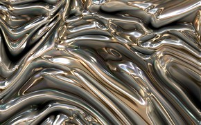 Picture line, metal, abstraction, silver, silver, gold, metallic, substance, plasma, melting, diffusion, mixing