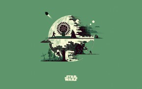 Picture Minimalism, Star Wars, Star wars, Art, Art, Fiction, Fiction, Minimalism, Character, The Death Star, Characters, …