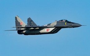Wallpaper Polish air force, multi-role fighter, MiG-29M