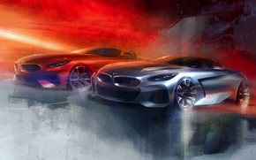 Picture figure, BMW, sketch, cars, BMW Z4, Z4, roadsters, 2019