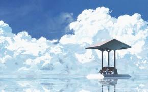 Picture Water, Clouds, Horizon, Art, asuteroid