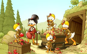 Picture stones, Disney, mine, Huey, Scrooge McDuck, DuckTales, Louie, Dewey, donald duck