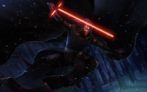 Picture Winter, Snow, Star Wars, Sword, Fantasy, Art, Lightsaber, Sith, Illustration, Characters, Science Fiction, Kylo Ren, …