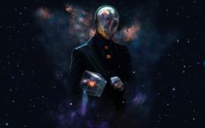 Picture space, cube, alien creature, alien race