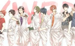 Picture blood, anime, art, guys, Gintama, GINTAMA