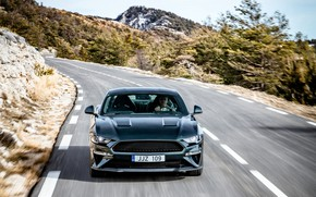 Picture Mustang, Ford, 2018, on the road, Bullitt, fastback