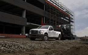 Picture Ford, excavator, pickup, tractor, Super Duty, F-350, 2020, the site, 2019, F-series