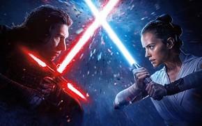 Picture fiction, Star Wars, Star wars, Saga, The Rise of Skywalker, Skywalker. Sunrise