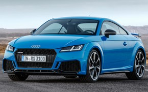 Picture road, car, machine, the sky, Audi, lights, front, side, blue, Coupe, blue, wheel, coupe, Audi …