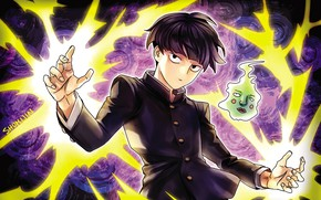 Picture cast, the power of thought, Mob Psycho 100, Kageyama Shigeo, Mob psycho 100