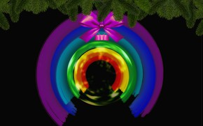 Picture Christmas, rainbow, Christmas ornament