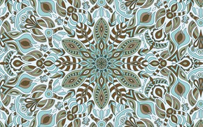 Picture flowers, pattern, vector, seamless