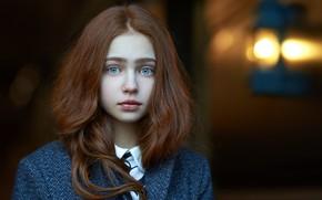 Picture girl, redhead, Alexander Vinogradov, Alexander Vinogradov