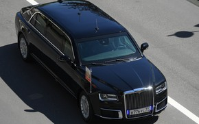 Picture limousine, Aurus, the car of the President of the Russian Federation