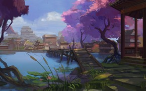 Picture landscape, Asia, East