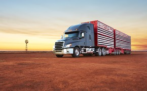 Picture sunset, australia, Freightliner Cascadia