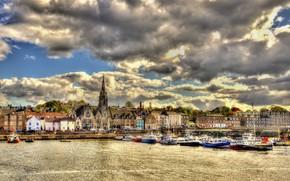 Picture the city, Marina, promenade, Scotland, Edinburgh, Edinburgh, Newhaven Harbour