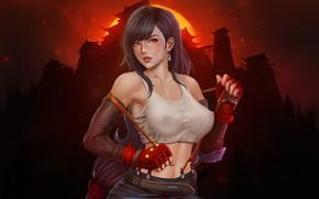 Picture Girl, Girl, Final Fantasy, Art, Tifa, Sexy, Style, Character, Characters, Tifa Lockhart, Game Art, Tifa …
