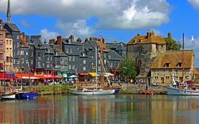 Picture France, Port of Honfleur, Norman town, Honfleur, harbour