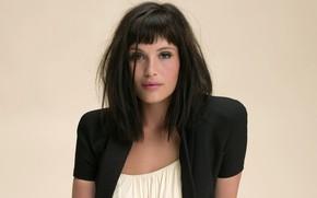 Picture look, pose, smile, model, makeup, actress, brunette, celebrity, smile, Gemma Arterton, hair, look, pose, actress, …