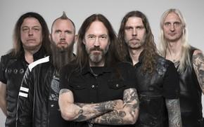 Picture hevy-metal, power metal, HammerFall, David Wallin, Joacim Cans, Oscar Dronjak, Fredrik Larsson, Pontus Norgren