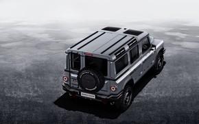 Picture grey, background, SUV, top, prototype, Grenadier, Ineos