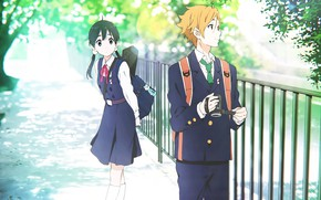 Picture love, girl, guy, Shop Tamako, Tamako Market