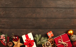 Picture winter, holiday, Board, Christmas, New year, box, Christmas decorations, новогодние декорации