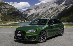 Picture green, audi, quattro, 2018, rs4, before