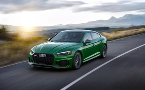 Wallpaper sunset, Audi, speed, RS5, Sportback, 2019