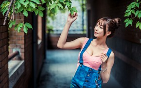 Picture branches, Asian, jumpsuit
