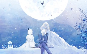 Picture butterfly, flowers, girls, the moon, snowman, guy