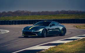 Picture Aston Martin, coupe, Vantage, on the track, Manual transmission, AMR, 2019, 510 HP, 4 L., …