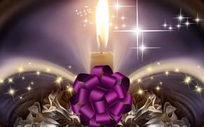 Picture holiday, gift, Shine, sparks, celebration, fabulous flowers, burning candle