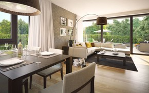 Picture design, interior, terrace, living room, dining room, Residence Villa In The Sun, Prague-10