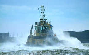 Picture wave, squirt, storm, England, tug