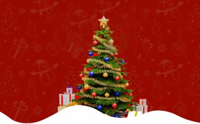 Picture holiday, New Year, Tree