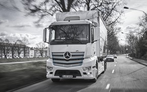 Picture Mercedes-Benz, truck, van, Actros, e-Actros