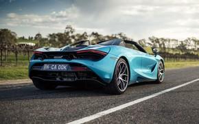 Picture McLaren, supercar, rear view, Spider, 720S, 2019