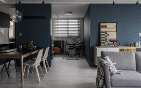 Picture design, style, interior, living room, dining room, by AworkDesign.Studio, W Apartment