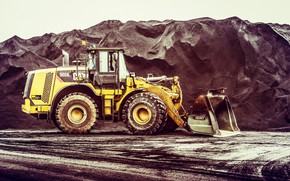 Picture Cat, Tractor, Caterpillar, Special machinery, Guarry, Front loader