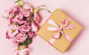 Picture holiday, gift, bouquet, eustoma, birthday
