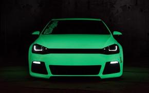 Picture Volkswagen, Green, Tuning