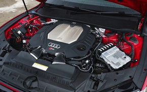 Picture Audi, engine, TFSI, RS 7, 2020, 600 HP, UK version, V8 Twin-Turbo, RS7 Sportback, 4.0 …