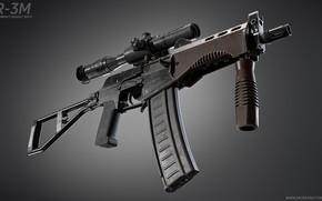 Picture rendering, weapons, machine, gun, weapon, render, Assault rifle, assault Rifle, SR-3, Vortex, SR-3M, Machine Special, …